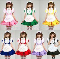 Wholesale Maid Service Anime - Japanese Sweet Maid Dress Inu Boku Secret Service Cosplay Maid Costumes Sexy Lolita Apron Uniform Dress Set Inu x Boku SS