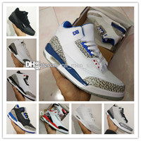 Wholesale Good Bond - New retro 3 white black cement infrared 23 wolf grey mens basketball shoes sneakers for men sport designer Good Quality Version Size 8-13
