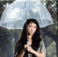 Wholesale Transparent Hot Tube - Hot Selling Fashion Apollo Transparent Umbrella Clear Bubble Umbrella For Girls Mushroom Umbrella Free Shipping 20pcs