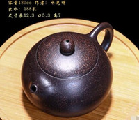 Wholesale Yixing Clay Teapots - 002 Purple sand pot, Yixing masters, pure hand Shi Shi, sesame section, health teapot, kung fu tea set, ceramic set