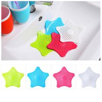 Wholesale Hair Suction - Starfish Hair Catcher No Slip Suction Cups Drain Cover Hair Catcher Sink Strainers  Silicone Bathroom Drains Strainer Kitchen Sink Strainer