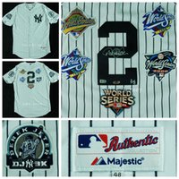 Wholesale Derek Jeter Jersey New York Yankees Baseball Jersey autograph White