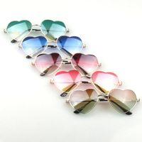Wholesale Hq Mix - Wholesale- HQ 2017 New Fashion Women Love Heart Shape Gradient Color Sunglasses UV400 Lady Vintage Style Cute Design Sunglasses XHH04725