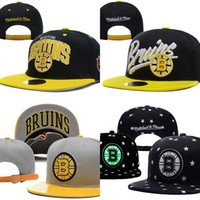 Wholesale Wholesale Sports Logo Hats - Hot Sales Boston Bruins Baseball Snapbacks Baseball Cap Embroidered Team logo Fitted Cap Sport Fit Hats Adjustable Cap
