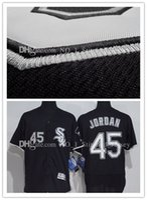 Wholesale Elite Sox - 2017 New Chicago White Sox 45 Michael Jersey White Black Gray Men's Throwback FlexBase Elite Baseball Jerseys Free Shipping M-XXXL