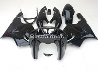 Wholesale Body Kits Parts - New hot body parts fairings for Kawasaki Ninja ZX7R 96 97 98 99 00-03 glossy black fairing kit ZX7R 1996-2003 TY42
