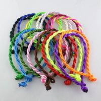 Wholesale Couple String - 100pcs Unisex Red String Cord String Lucky Bracelet Lovers Friendship Fashion Jewelry Bangle Protection Couple men women Success Adjustable