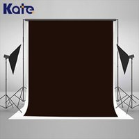 Wholesale 2017 x6 ft Dark Brown Pure Solid Color Cloth Photography Fabric Backdrop Non Woven Professional Portrait Video Shooting Background k64