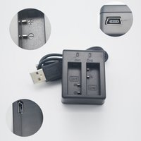 Wholesale Port Changer - Wholesale- 5V Dual port battery Changer For Original Sjcam Sj4000 Wifi Charger Action Camera Accessorie wifi sports camera Double charger
