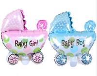 carrinho de passeio inflável venda por atacado-29 * 37 cm Folha de Balões de Bebê Carrinho De Bebê Chuveiro Do Bebê Carrinho de Bebê Menina Balão Brinquedos Infláveis Crianças Festa de Aniversário Decorat