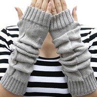Wholesale Wool Fur Fingerless Long Gloves - Wholesale- Fur Mitts Women Winter Female Long Gloves Sport Knitted Fingerless Gloves Women's Soft Wool Warm Glove Mittens Wholesale #JO