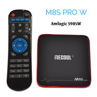 Wholesale quad core cpu android tv for sale - Group buy MECOOL M8S PRO W Android Smart TV Box Amlogic S905W CPU Quad Core K H D HD GB RAM GB Android TV Box