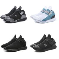 Wholesale Heavy Running Shoes - 2017 new sports casual shoe heavy sole running shoe AD y3 blue samurai leather shoes black warrior men's shoes boots women