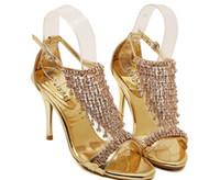 ingrosso scarpe stiletto alla moda-2016 nuova moda estate strass di cristallo sandali stiletto scarpe alla moda @ 78
