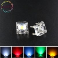 Wholesale Leds Flux For Cars - Wholesale- 5MM Piranha Super Flux LED 20 EACH White Red Blue Green Yellow Leds kit 4 Pin Dome Wide Angle Light Lamp For Car Light=100pcs