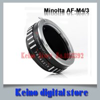 Wholesale Micro Thirds - Wholesale- amera Lens Adapter For S0NY A AF Alpha Minolta MA lens to MICRO 4 3 FOR THIRDS m4 3 mount adapter ring AF-M4 3