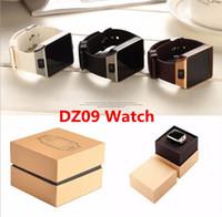 ios elma akıllı saatler toptan satış-DZ09 Apple Samsung IOS Android Için Bluetooth Smart İzle Smartwatch Cep Telefonu 1.56 inç
