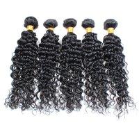 Wholesale Hiar Wave - Remy Human hair Wholesale 10 Bundles Malaysian Deep Wave Cheap Human Hiar Weave Brazilian Peruvian Malaysian Curly Virgin Hair Weaving