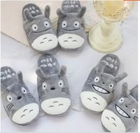 Wholesale Totoro Home Slippers - Wholesale- Plush cute 1 pair cartoon anime Miyazaki Hayao totoro funny winter home floor slippers warm holiday toy girl gift