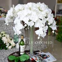 Wholesale Cheap Wholesale Orchids - 78CM Upscale Phalaenopsis Artificial Flowers DIY Artificial Butterfly Orchid Silk Flower Bouquet Wedding Home Decoration 100pcs Cheap sale
