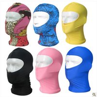 Wholesale Nylon Mask Woman - Wholesale- 10pcs lot Balaclava Face Mask Facekini Women Swim Flower Cap Ladies Nylon Fancy Swimming Cap Lycra Unti UV Gorro Natacion N
