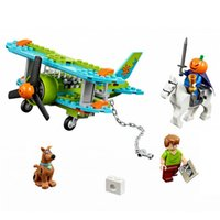 Wholesale Bela Scooby Doo Dog Mystery Plane Adventures Figures Building Block Shaggy Figures Elwood BL10429