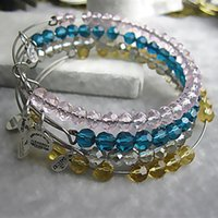 Wholesale Crystal Bead Adjustable Rings Jewelry - hot sale jewelry fashion retro antique vintage Adjustable expanded engraved woman crystal beads charm bangle bracelets