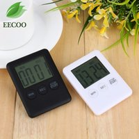 Wholesale large digital timers - 2 Colors Square Large LCD Digital Kitchen Timer Cooking Timer Alarm with Magnet
