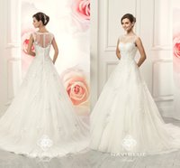 Wholesale Cheap Covers China - Naviblue Wedding Dresses 2017 Vestido De Noiva Appliques China Cheap Ivory Puffy Princess Tulle High Quality Ball Gowns Bridal Gowns