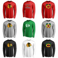 Wholesale Cheap New Chicago Blackhawks Rinkside Fan Big Primary Logo Long Sleeve T Shirt
