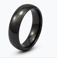 zircônia cerâmica china venda por atacado-8mm preto anel de zircônia cúpula de boa qualidade e alta polonês finshed anel de jóias de cerâmica para homens e mulheres para o presente do pai