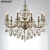 Wholesale Projects Sales - Hot Sale Chandelier Light Fixture 10arms Alloy Luxurious Crystal Chandelier Lamp Light for Living room Dining room Hotel Project