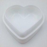 moldes de silicona en forma de corazón al por mayor-Amor en forma de corazón Mousse Pan Molde de silicona para hornear pasteles Molde de pastel para hornear DIY antiadherente Torta Pan