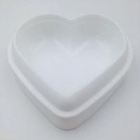 ingrosso piatti di pane-Love Heart Shape Mousse Bread Mold Stampo in silicone per pasticceria Stampo per dolci Bakeware Teglia per torta antiaderente