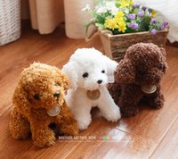 Wholesale Poodle Plush Toy - Wholesale- Free shipping simulation Teddy dog lady, poodle plush toys, animal suffed doll for Christmas gift