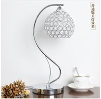 Wholesale G4 Dimmer - Korean style crystal lamps creative modern bedroom bedside lamp dimming lamp warm warm light LED lamp
