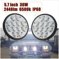 5.75 pollici led headlight kit High Low Beam 36w 9-32V 6500K 2448lm Luci motociclistiche per Harley Jeep BMW Styling auto