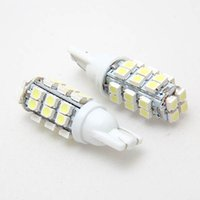 Wholesale Inverted Side Bulb - Wholesale- 10Pcs T10 W5W 12V 28SMD 1210 LED Car Bulbs Inverted Side Wedge Interior Ultra Bright White Light Bulb