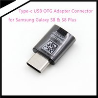 Wholesale Micro Usb Connector Otg - 2017 Newest s8 Brand new OEM Type-C Micro USB OTG Adapter Connector for Samsung Galaxy S8 S8 Plus