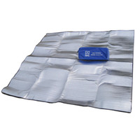 Wholesale Insulated Aluminum - Wholesale- AOTU New 200*200cm Aluminum Backing Insulating Insulation Foam Camping Mat Blanket Cushion Pad for Camping Hiking