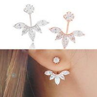 Wholesale factory direct version - 2015 Korean Version Of The New Fashion Crystal Silver Leaf Earrings Female High Quality Jewelry Factory Direct Wholesale