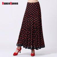 Wholesale Gypsy Clothing For Women - 2017 Ballroom Dance Skirts Modern Gypsy Skirt Flamenco Dance Costumes Clothing For Dance Women'S Latin Dress DQY10202