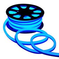 tubo de luces a prueba de agua led al por mayor-110V 220V LED Flex Neon Rope Light Impermeable 80led / M Led Neon Tube Luz de tira flexible Iluminación interior al aire libre Decoración navideña