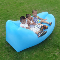 Wholesale Fast Inflatable Sofa Air Sleeping Bags Beach Lounger Hangout Couch Portable Camping Hiking Beds Lazy Beach Outdoor Lay Chairs OOA450