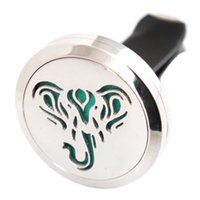 Wholesale circles car for sale - Group buy Elephant mm Aromatherapy Essential Oil surgical Stainless Steel Pendant Perfume Diffuser Car Lockets Include Felt Pads