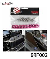 Wholesale Engine Dress - RASTP-Wholesale 10PCS Pink JDM Billet Aluminum Fender Bumper Washer Bolt Engine Bay Dress Up Kit RS-QRF002