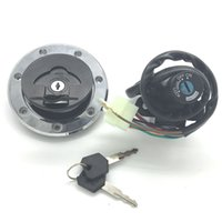 Wholesale Motorcycles Switch - Motorcycle Ignition Switch Fuel Gas Cap For kawasaki ZX6R 2000-2002 ZX9R 1994-2003 ZX7R ZX7RR All the year