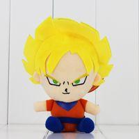 Wholesale Dragon Ball Z Plush - Anime Dragon Ball Z Plush Toys Dragoll Son Goku Plush Keychain Pendant Stuffed Dolls 21CM