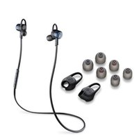 Wholesale Stereo Earphone Case - New PLT BackBeat GO 3 Wireless Headphones Sweatproof Bluetooth Earphones Copper Grey and Gobalt Black Can Choose Charge Case DHL Free