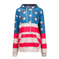 Wholesale Cheap Pullovers For Women - guangzhou michun apparel wholesale cheap price american flag star printed pullover long sleeve spandex sweatshirts streetwear for women